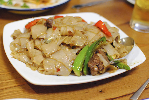 pad kee mao | drunken noodles with short ribs flat noodles, chile, basil, garlic
