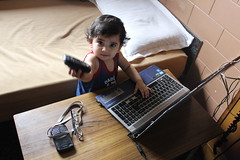 The Laptop is Childs Play Says Nerjis Asif Shakir 1 Year Old by firoze shakir photographerno1