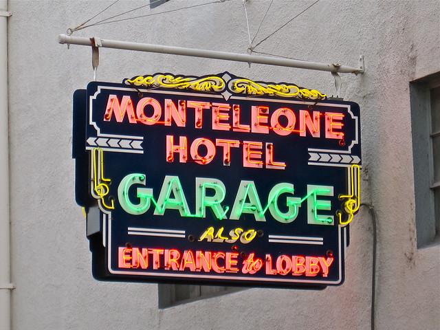 Hotel Monteleone Garage - New Orleans, Louisiana U.S.A. - December 20, 2011
