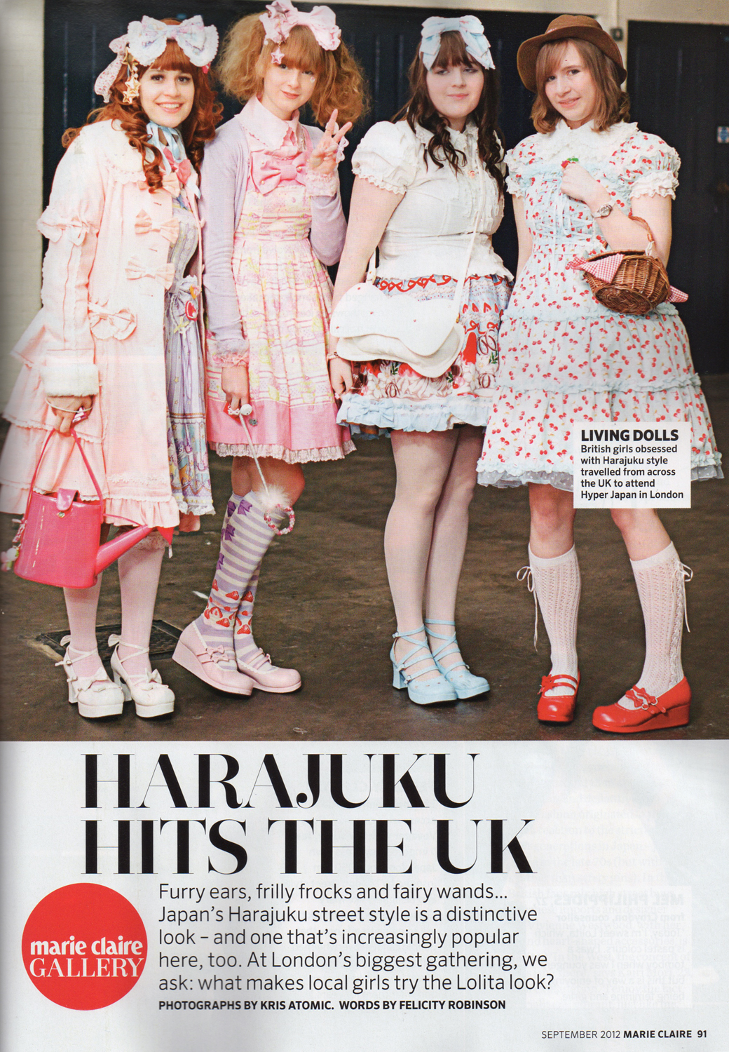 Marie Claire sept '12 HJ report