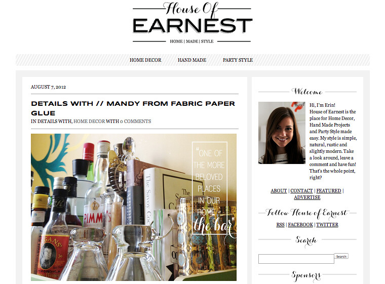 House of Earnest : Details With