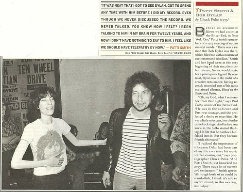 (Undated) Rolling Stone Magazine (Dylan/Smith - NYC - 1975)