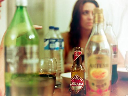 Still Life - an empty bottle tells a story by 35mm_photographs