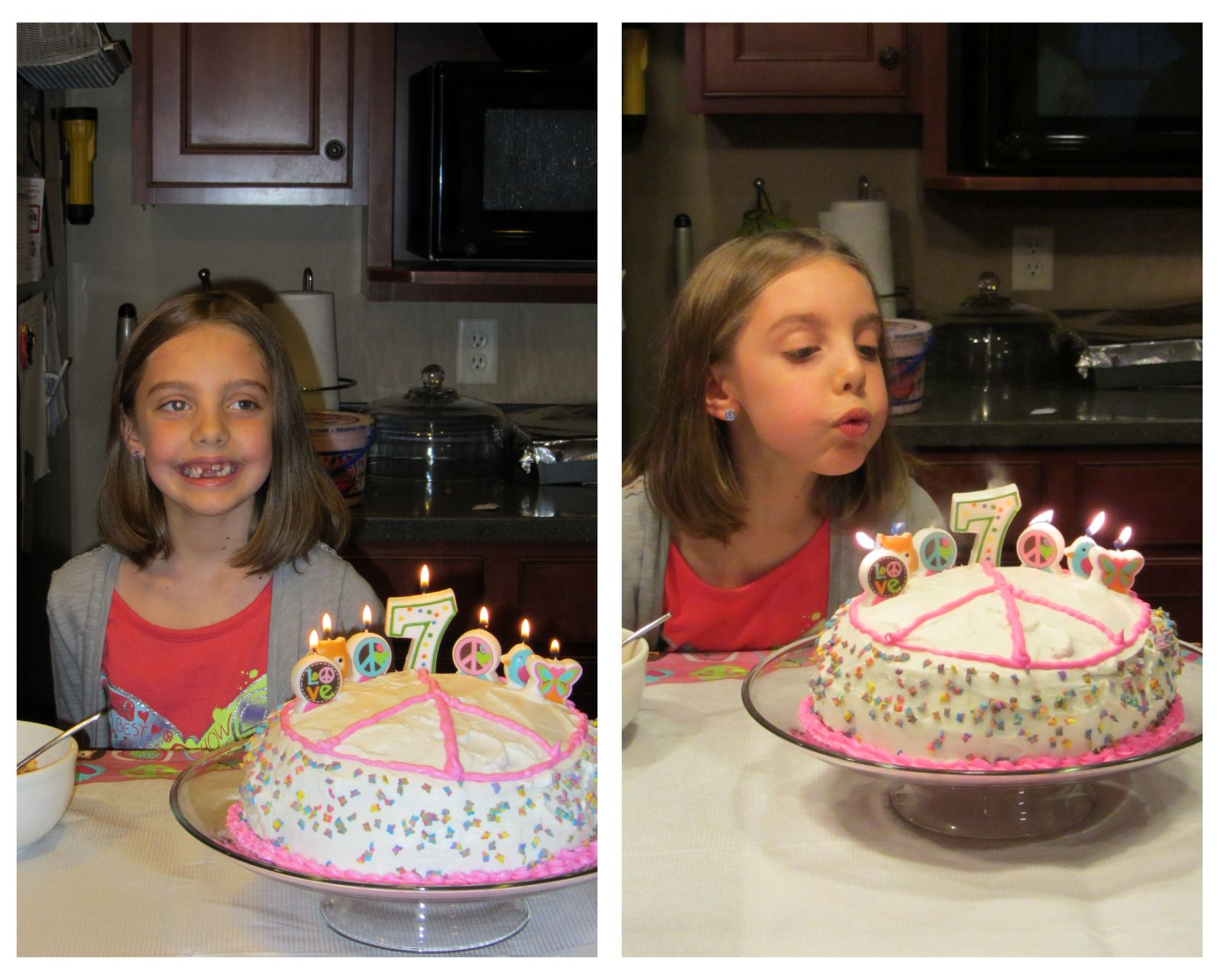Gracie and cake