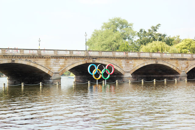 The Serpentine Hyde Park Olympic Rings