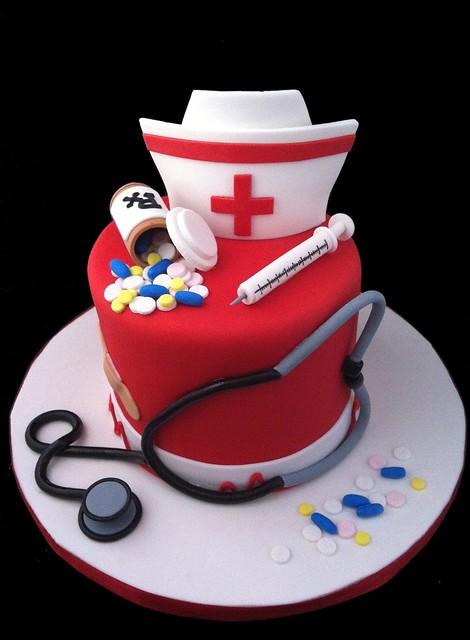 Cake Decorating Nurses Theme : Nurse cake Flickr - Photo Sharing!