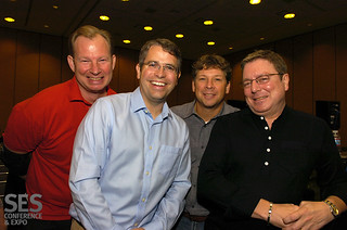 Matt Cutts, Mike Grehan, Danny Sullivan and Brett Tabke at #SESSF
