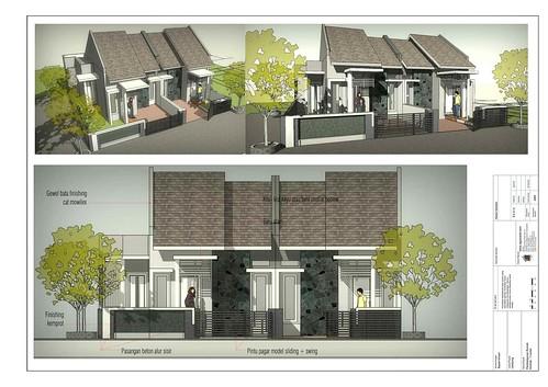 Konsep 3D Rumah Kontrakan