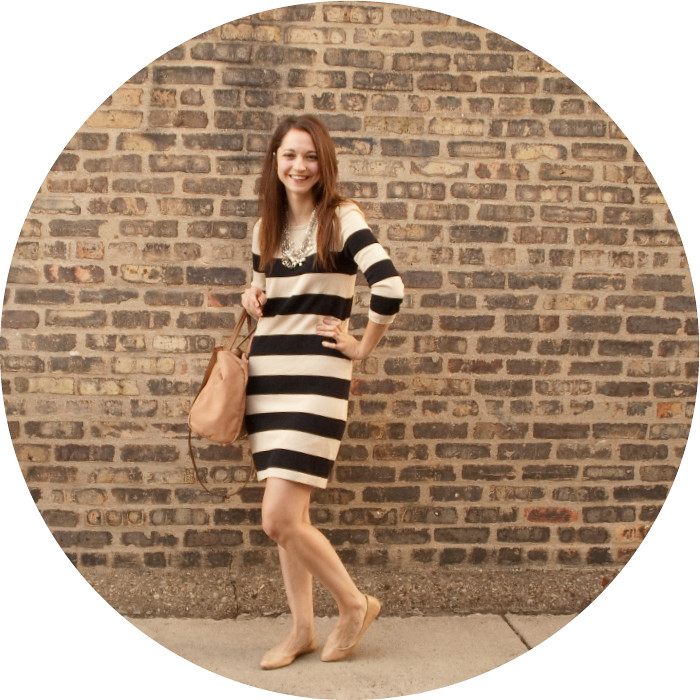 striped sweater dress, cotton stripes, cream and black big stripes, ootd, wear to work, casual work looks, dash dot dotty, dresses with flats, pointed flats, brick wall bloggers