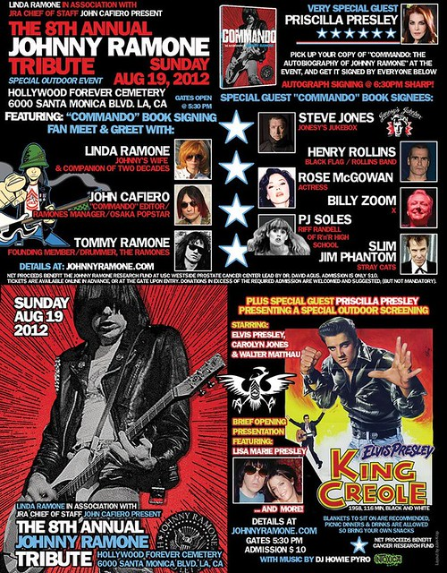 08-19-12 8th Annual Johnny Ramone Tribute @ Hollywood Forever Cemetery, Los Angeles, CA