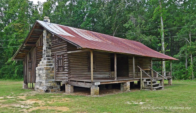 Wagarville al gibeon jefferson sullivan cabin built ca for Log cabin builders in alabama