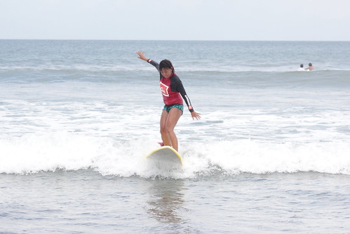 Surfing Legian Beach, Indonesia