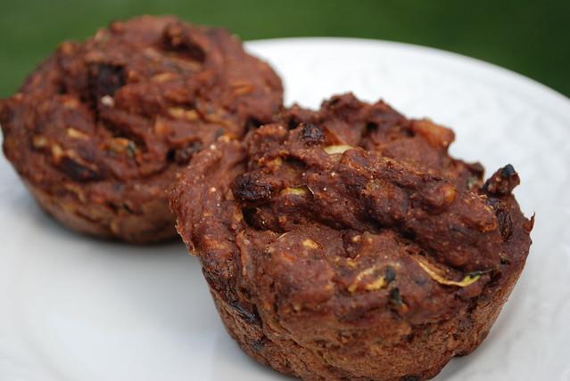 Zucchini Carrot Raisin Muffins