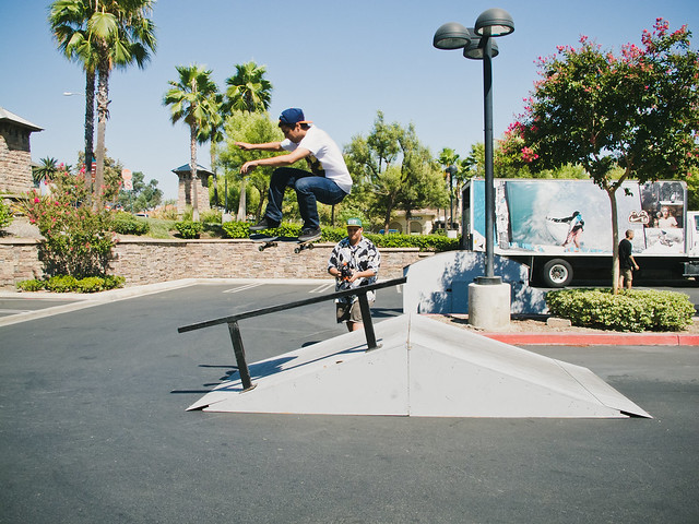 180 over the rail the hard way...