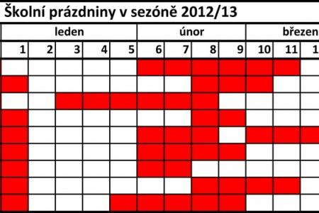 Archiv školních prázdnin v Evropě v sezóně 2012/13