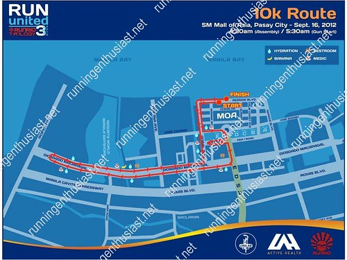 run united 3 10k route map