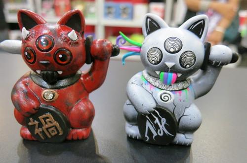 Mini-Misfortune Cat Customs at DesignerCon 2012 8152586160_f67cf765ce