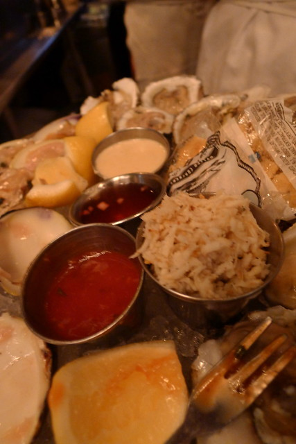 horseradish and a variety of condiments