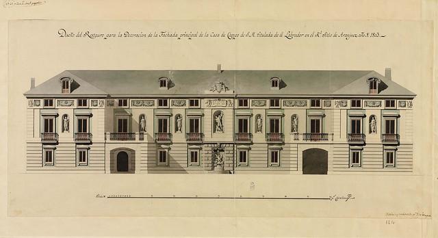 Fachada principal de la Casa del Labrador (Isidro Velázquez) (Iberia)
