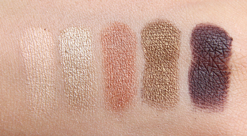 MAC fabulousness warm eyes palette swatch