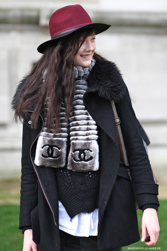 Yumi Lambert at Paris fashion
