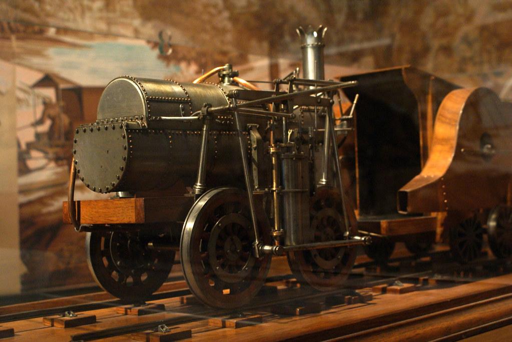 > Musée d'histoire de Lyon : Le premier chemin de fer en France relie Saint Etienne à Lyon. Musée Gadagne.