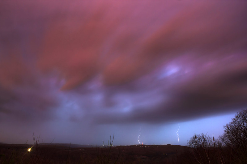 Lightning storm from Sunset Rock 1, White County, Tennessee