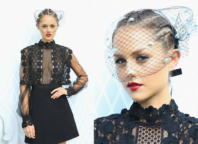 Pom-pom-birdcage-veil-black-daring-dress