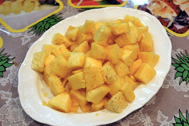 Okinawan pineapple is really juicy!
