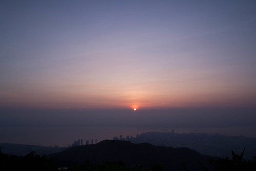 Sunrise View from Penang Hill by andruphotography