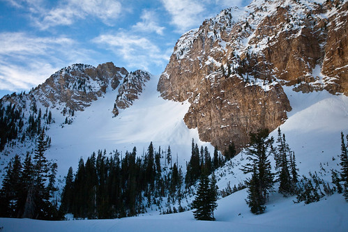 Twin Couloirs of Deseret Peak