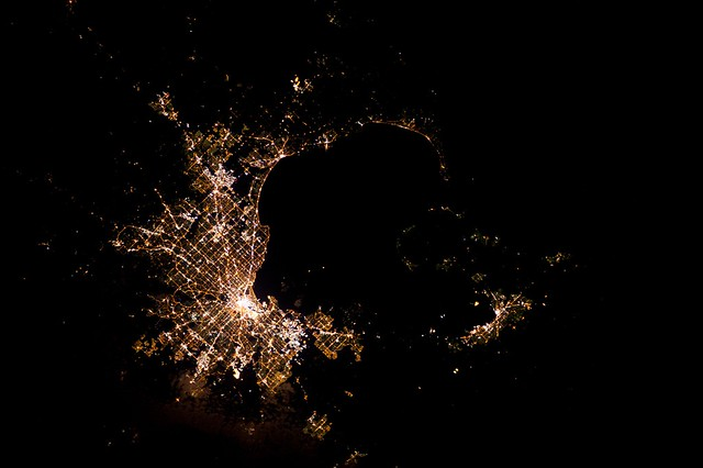 Melbourne australia seen from the iss at night flickr photo