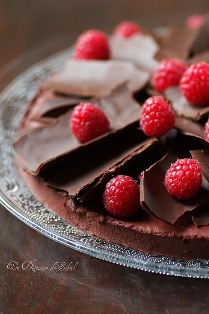Tarte framboises chocolat