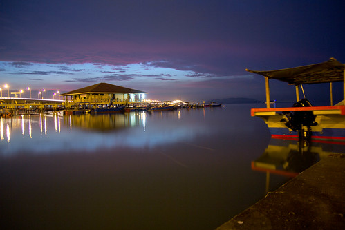 Sunrise view front of Penang Bridge by andruphotography