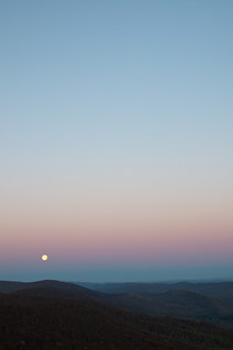 moon at sunrise
