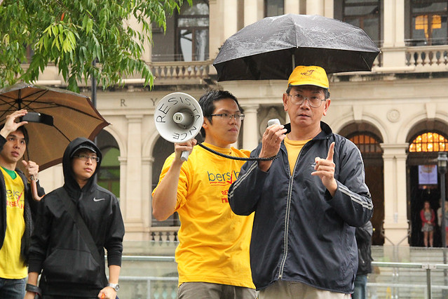 Bersih 3.0 Fellow Malaysian expressing his thoughts