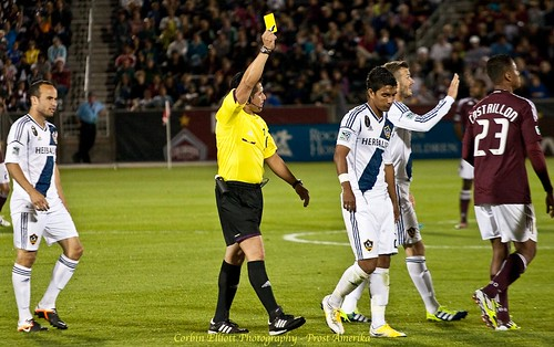 Yellow Card with David Beckham, Denver sports photographer