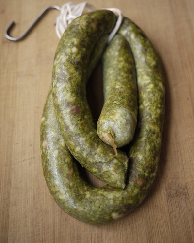 Chorizo Verde batch 3 after hanging a couple of days