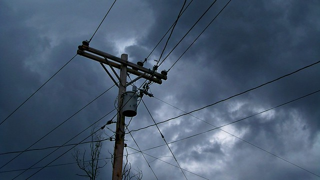 Powerlines and Dark Clouds