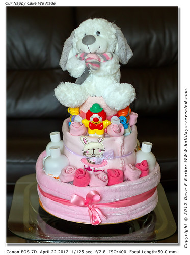 Our Nappy Cake We Made for Our Granddaughter Lauren Whos Expecting A Baby Girl Soon