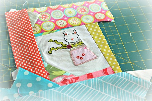 Scrappy patchwork block