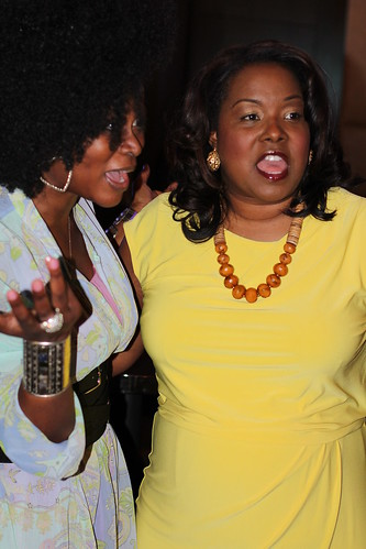 Abiola Abrams and Melinda Emerson at the Black Enterprise Magazine Party