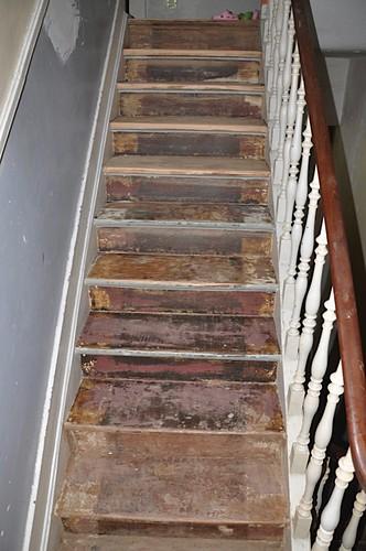 mes escaliers avant rénovation