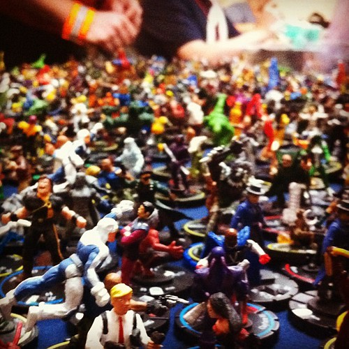 the game room has this awesome miniatures table #portconmaine #pcm2012 #geeks #unschooling
