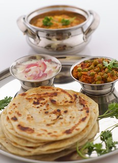 Paratha  and Green peas masala …!!