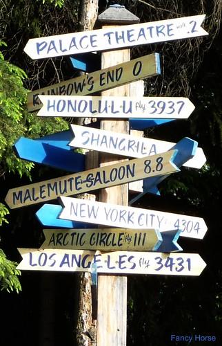 Alaska Salmon Bake - signpost