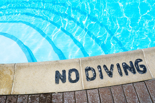 "Because Flickr needs just one more ""NO DIVING"" photo."