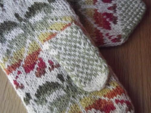 Handknit Estonian mittens