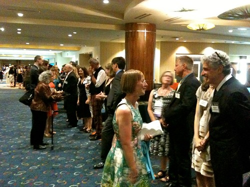 The receiving line post-banquet