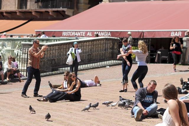 Dancing in Piazza del Campo